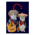Tarjeta del día de San Valentín española del gato