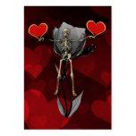 Tarjeta del día de San Valentín esquelética del Tarjetas De Visita Grandes
