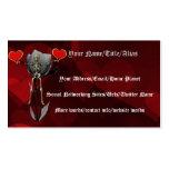 Tarjeta del día de San Valentín esquelética del Tarjetas De Visita