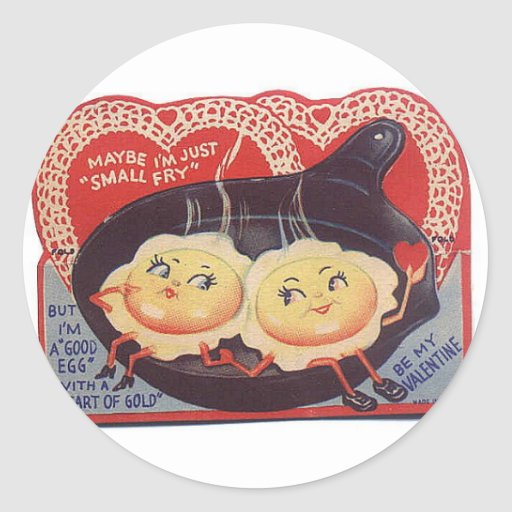 Tarjeta del día de San Valentín Etiquetas Redondas