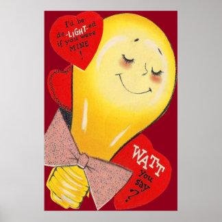 Tarjeta del día de San Valentín extraña divertida  Póster
