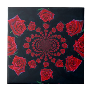 Tarjeta del día de San Valentín feliz Azulejo Cuadrado Pequeño
