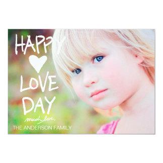 """Tarjeta del día de San Valentín feliz blanca del Invitación 5"""" X 7"""""""