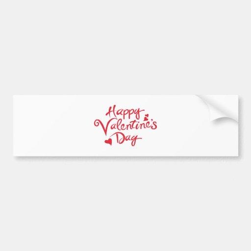 Tarjeta del día de San Valentín feliz Pegatina De Parachoque