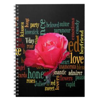 tarjeta del día de San Valentín feliz en style.png Cuadernos