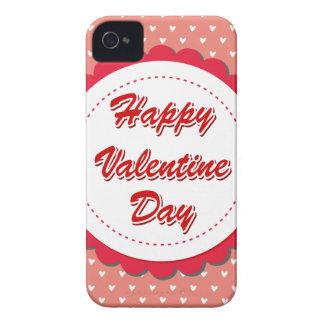 Tarjeta del día de San Valentín feliz iPhone 4 Cobertura