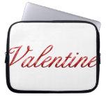 Tarjeta del día de San Valentín Funda Computadora