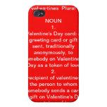 Tarjeta del día de San Valentín iPhone 4/4S Carcasa