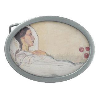 Tarjeta del día de San Valentín Gode de Fernando H Hebillas Cinturon Ovales