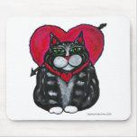 Tarjeta del día de San Valentín gorda Mousepad del