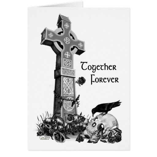 Tarjeta del día de San Valentín gótica