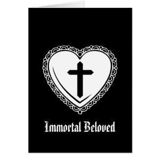 Tarjeta del día de San Valentín gótica de la cruz