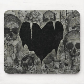 Tarjeta del día de San Valentín gótica del corazón Mousepad