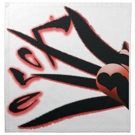 Tarjeta del día de San Valentín gótica Servilletas