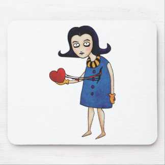 Tarjeta del día de San Valentín gótica Tapetes De Raton