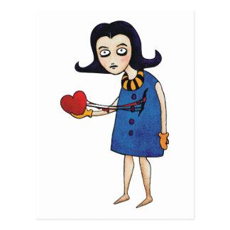 Tarjeta del día de San Valentín gótica Tarjeta Postal