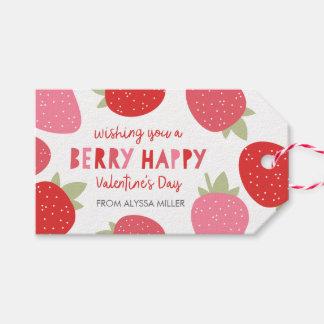 Tarjeta del día de San Valentín linda de la baya Etiquetas Para Regalos