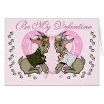 Tarjeta del día de San Valentín linda de la cabra