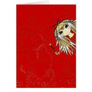 Tarjeta del día de San Valentín linda del chica