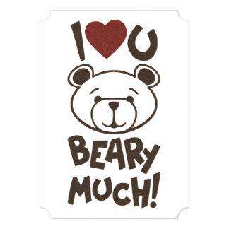 """Tarjeta del día de San Valentín linda del oso Invitación 5"""" X 7"""""""