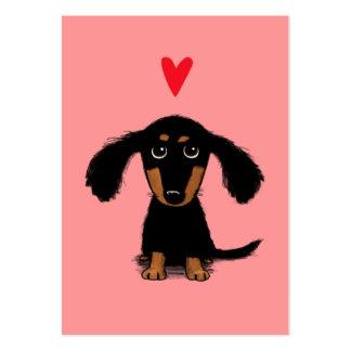 Tarjeta del día de San Valentín linda del perrito  Tarjetas De Visita Grandes
