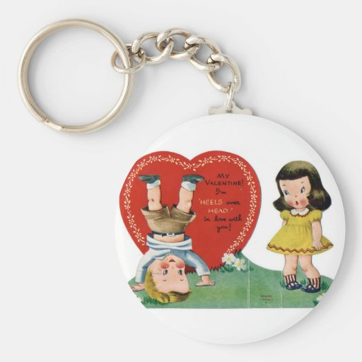 Tarjeta del día de San Valentín Llavero