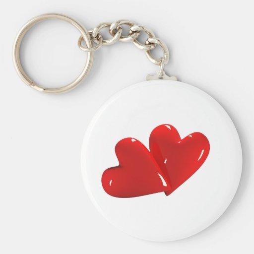 Tarjeta del día de San Valentín Llavero Redondo Tipo Pin