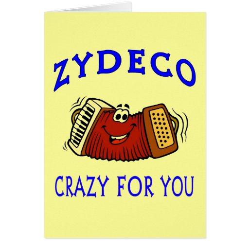 Tarjeta del día de San Valentín loca de Zydeco