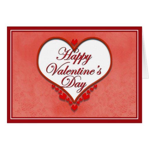 Tarjeta del día de San Valentín moldeada del coraz