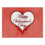 Tarjeta del día de San Valentín moldeada del coraz Impresiones