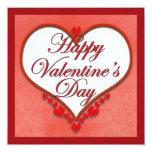 Tarjeta del día de San Valentín moldeada del Invitación 13,3 Cm X 13,3cm