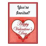 Tarjeta del día de San Valentín moldeada del Invitación 12,7 X 17,8 Cm