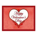 Tarjeta del día de San Valentín moldeada del Postal