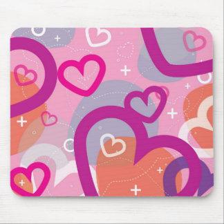 Tarjeta del día de San Valentín Mousepad abstracto Tapete De Ratón