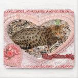 Tarjeta del día de San Valentín Mousepad de Beacat Alfombrilla De Raton