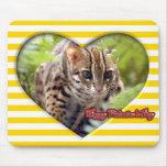 Tarjeta del día de San Valentín Mousepad del gato  Tapetes De Ratón