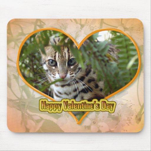 Tarjeta del día de San Valentín Mousepad del gato  Tapete De Ratón