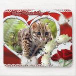 Tarjeta del día de San Valentín Mousepad del gato  Alfombrilla De Ratones