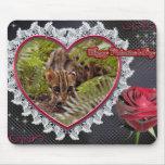 Tarjeta del día de San Valentín Mousepad del gato  Alfombrillas De Ratones
