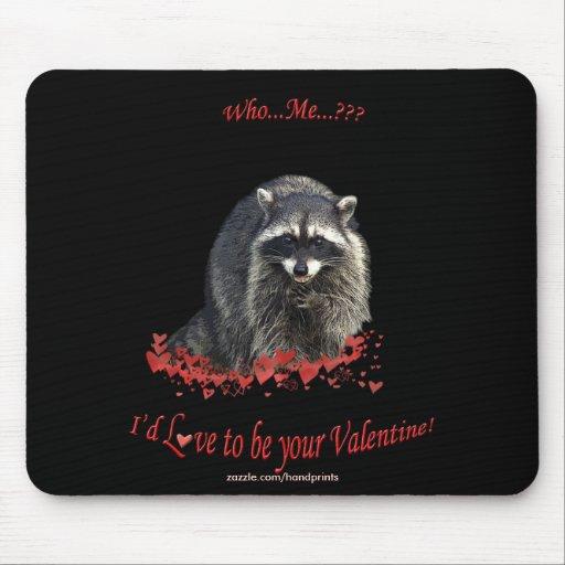 Tarjeta del día de San Valentín Mousepad del mapac Alfombrillas De Ratones