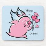 Tarjeta del día de San Valentín Mousepad personali Tapetes De Ratón