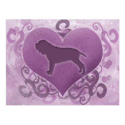 Tarjeta del día de San Valentín napolitana púrpura Tarjetas Postales