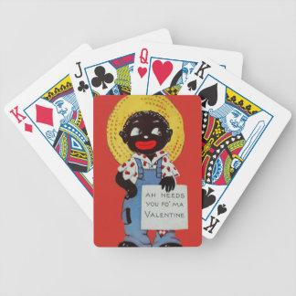 Tarjeta del día de San Valentín negra del gorra de Cartas De Juego