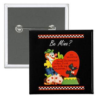 Tarjeta del día de San Valentín no Clowing Pin