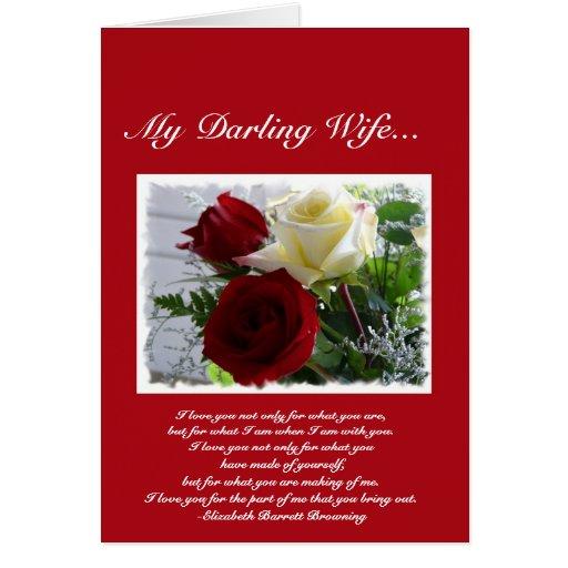 Tarjeta del día de San Valentín para amada