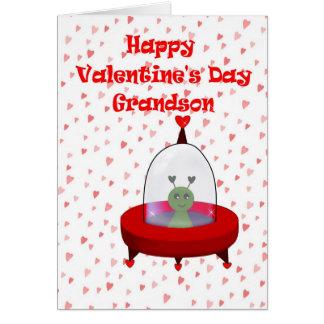 Tarjeta del día de San Valentín para el nieto