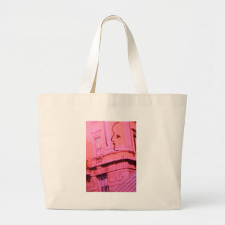 Tarjeta del día de San Valentín París rosada con s Bolsa De Mano