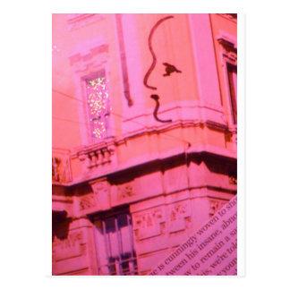Tarjeta del día de San Valentín París rosada con Tarjetas Postales
