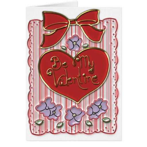 Tarjeta del día de San Valentín pasada de moda con