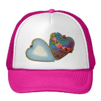 Tarjeta del día de San Valentín pasada de moda Gorras De Camionero